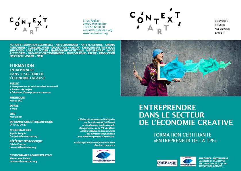 Nouvelle formation Context'Art ! Entreprendre dans le secteur créatif – Inscrivez-vous aux réunions d'information