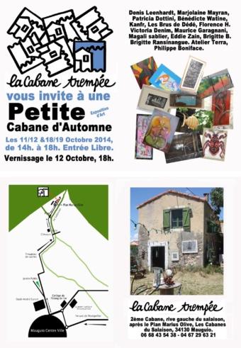 BRIGITTE B. EXPOSE A LA PETITE CABANE D'AUTOMNE
