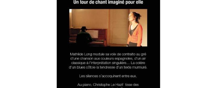 Mathilde Long en concert – 23 décembre 2014 – Mas Reynes – Montpellier