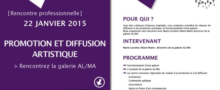 Rencontre professionnelle – Promotion et diffusion artistique – 22 janvier 2015