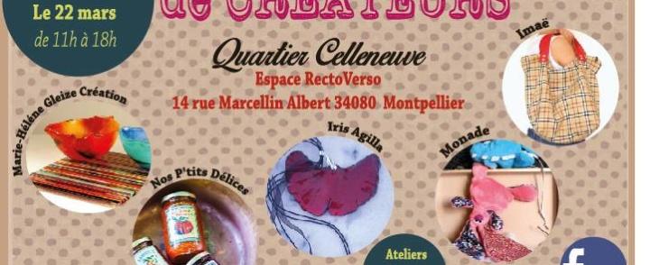 Boutique éphémère de créateurs – Quartier Celleneuve – 21/22 mars 2015