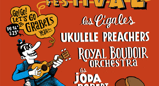 Olaketal ukulele festival – performance de la plasticienne Virginie Guidée – 25 avril – Grabels