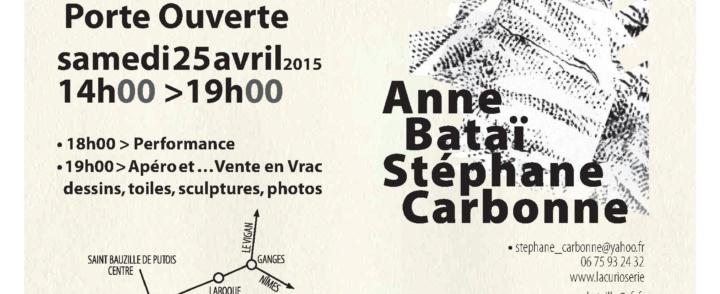 Anne Bataï ouvre les portes de son atelier – samedi 25 avril – St Bauzille de Putois