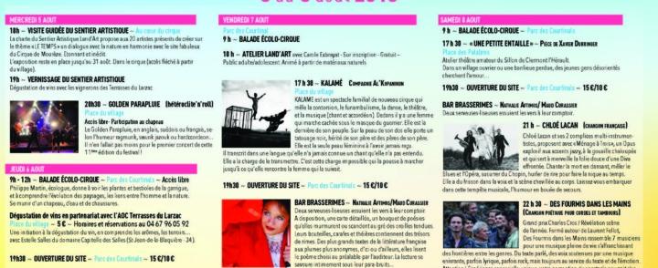 A la découverte du festival de Mourèze – 5 au 9 aout 2015