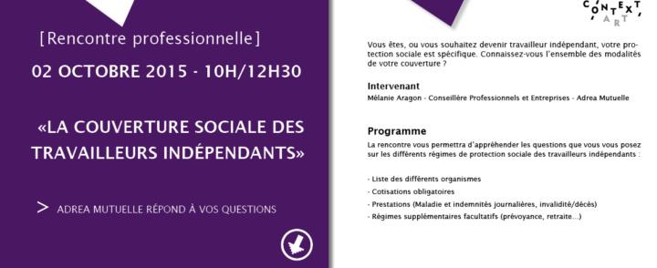 Rencontre professionnelle : La couverture sociale des indépendants – 2 octobre 2015