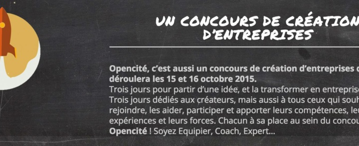 Opencité – 15/16 octobre … ça continue! L'équipe de Context'Art fera partie des professionnels qui coacheront les candidats!!