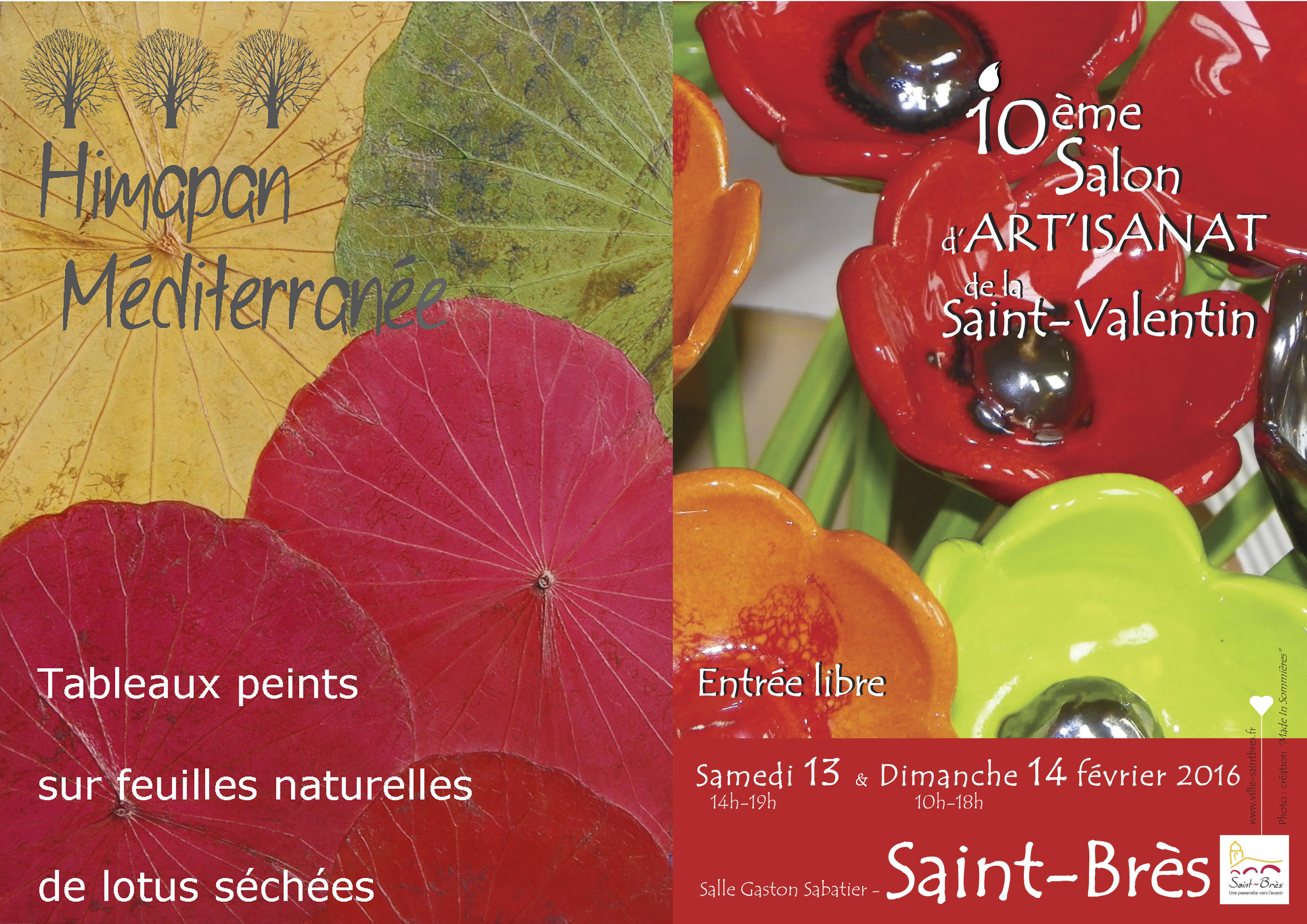 Himapan Méditerranée au Salon d'artisanat de la saint-valentin – St Brès – 13/14 février 2016