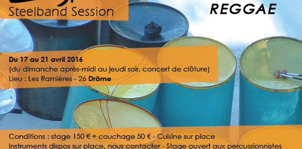 Stage Steelband – 17 au 21 avril 2016 – Les Ramières(26)