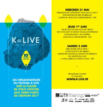 K-Live – 31 mai /2 juin 2017-Sète