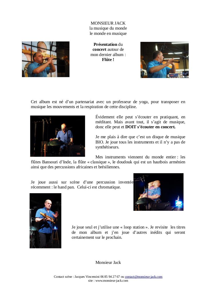 Mathilde Long et Monsieur Jack – Concert au Mas Reynes – Samedi 14 Octobre à 20h30