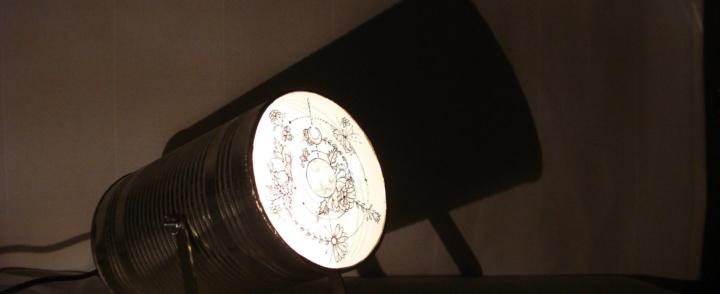 Vitraux projecteurs de Cindy Gatimel à l'Inauguration du concept store tatouage INDIGO – samedi 14 octobre 2017