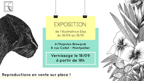 [EXPOSITION] L'illustratrice Elsa Gabet expose à Montpellier
