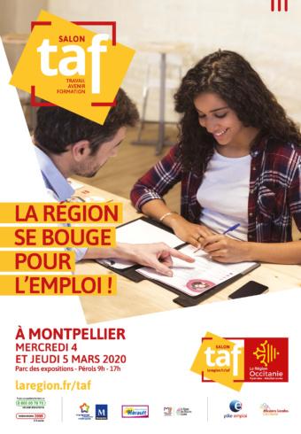 [RENCONTRE] Salon TAF // mercredi 4 et jeudi 5 mars // Parc des Expositions de Pérols